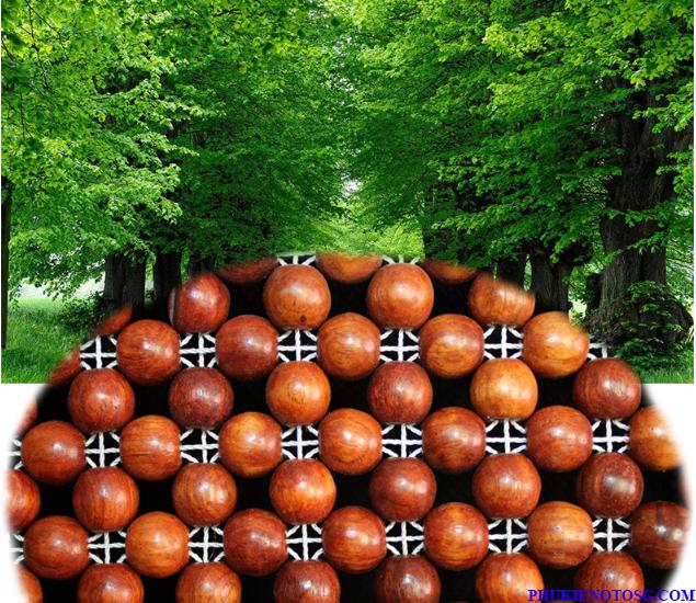 Hạt gỗ lót ghế oto thoáng khí, thân thiện với môi trường